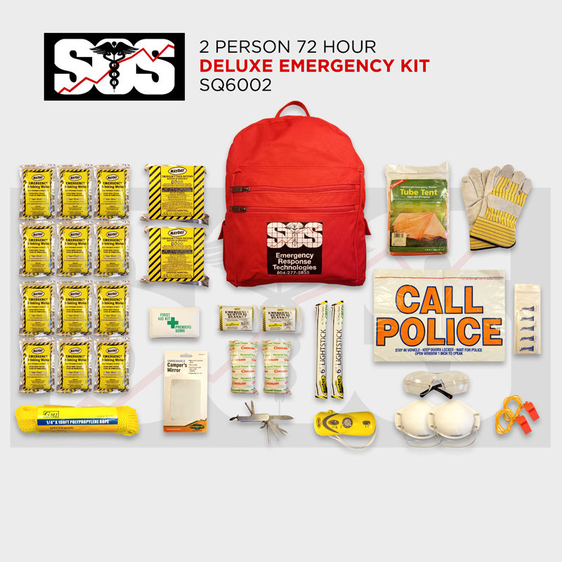 2 Person 72 Hour Deluxe Emergency Kit
