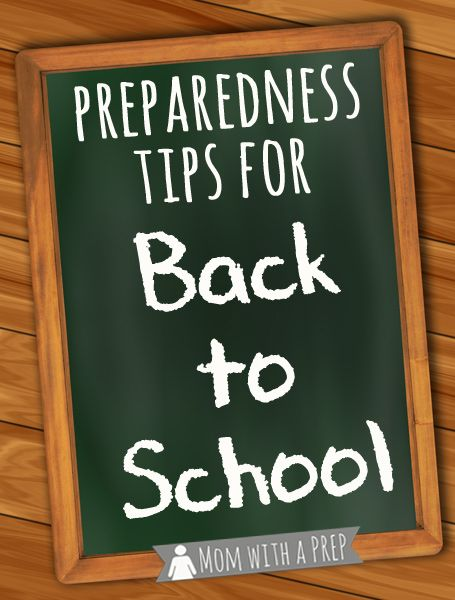 Back to School – Emergency Preparedness