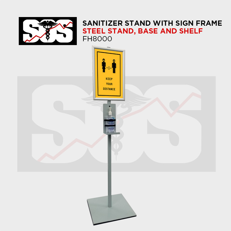 Sanitizer stand with sign FRAME